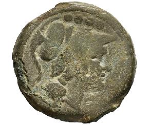ANONIME CON SIMBOLI  (apex e martello) (211-208 a. C.)